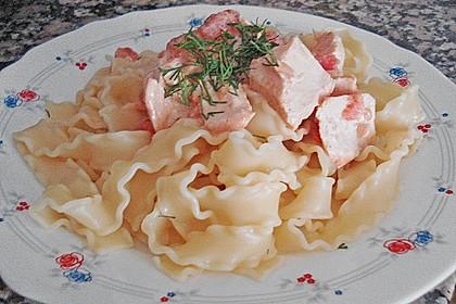 Mafalde mit Lachs - Tomaten Sauce