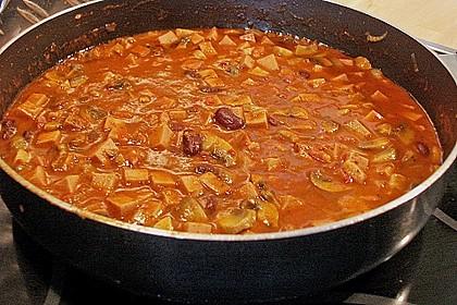 Leberkäse - Ragout mit Gemüse 8