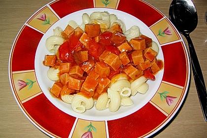 Leberkäse - Ragout mit Gemüse 3