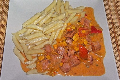 Leberkäse - Ragout mit Gemüse 6