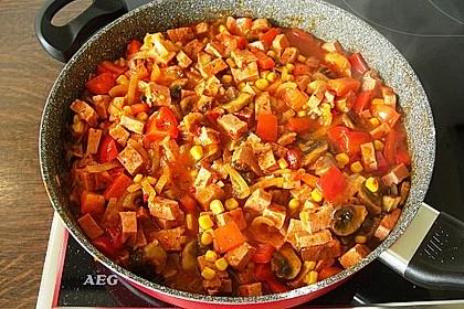 Leberkäse - Ragout mit Gemüse