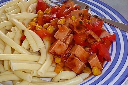 Leberkäse - Ragout mit Gemüse 4
