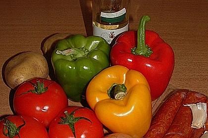 Gemüsepfanne mit Mettwurst 3