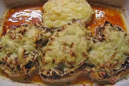Schweinekoteletts mit Pilz - Kräuterhaube überbacken 2