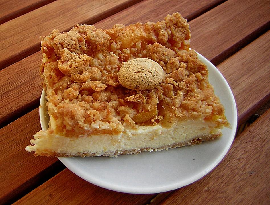 Pfirsich Amarettini Kuchen Von Mekki811 Chefkoch De