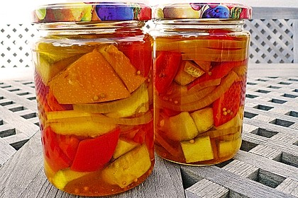 Süß - saure Zucchini Pickles