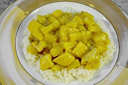 Ananas - Hühnchen - Curry 5
