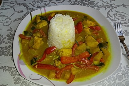 Ananas - Hühnchen - Curry 9