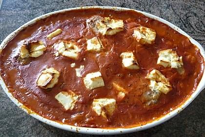 Hackfleischbällchen mit Schafskäse in Tomatensauce 42