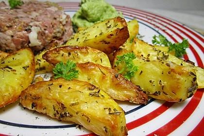 Fettarme Kartoffelspalten aus dem Ofen 44