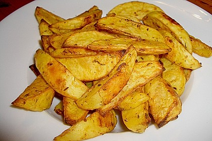 Fettarme Kartoffelspalten aus dem Ofen 2