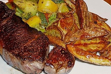 Fettarme Kartoffelspalten aus dem Ofen 11