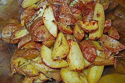 Fettarme Kartoffelspalten aus dem Ofen 50