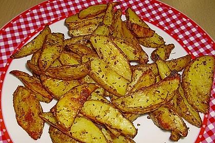 Fettarme Kartoffelspalten aus dem Ofen 15