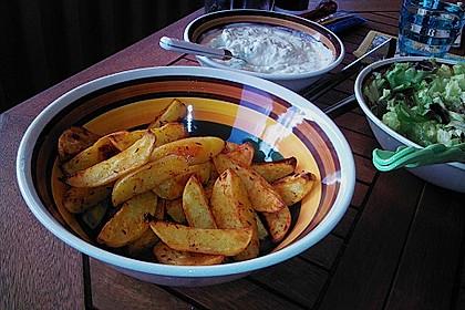 Fettarme Kartoffelspalten aus dem Ofen 13