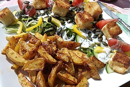 Fettarme Kartoffelspalten aus dem Ofen 9