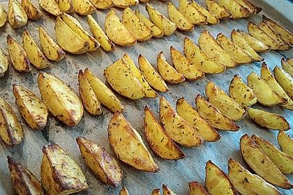 Fettarme Kartoffelspalten aus dem Ofen 20