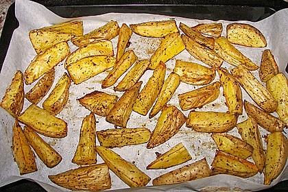 Fettarme Kartoffelspalten aus dem Ofen 64