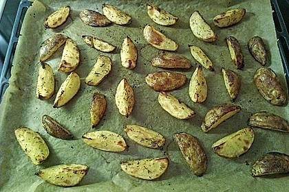Fettarme Kartoffelspalten aus dem Ofen 74
