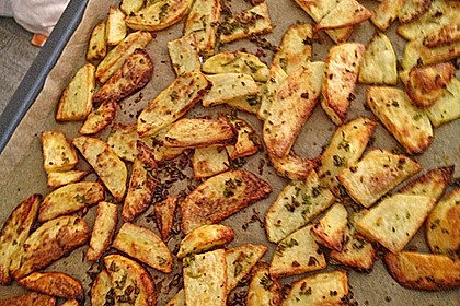 Fettarme Kartoffelspalten aus dem Ofen 66
