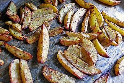 Fettarme Kartoffelspalten aus dem Ofen 36