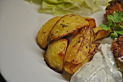 Fettarme Kartoffelspalten aus dem Ofen 79