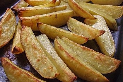 Fettarme Kartoffelspalten aus dem Ofen 6