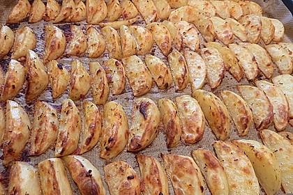 Fettarme Kartoffelspalten aus dem Ofen 35