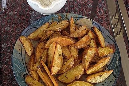 Fettarme Kartoffelspalten aus dem Ofen 58