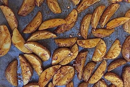 Fettarme Kartoffelspalten aus dem Ofen 73