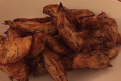 Fettarme Kartoffelspalten aus dem Ofen 30