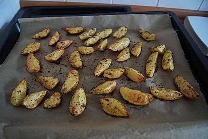 Fettarme Kartoffelspalten aus dem Ofen 69