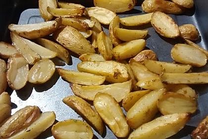 Fettarme Kartoffelspalten aus dem Ofen 62