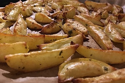 Fettarme Kartoffelspalten aus dem Ofen 10