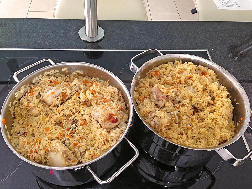 Plov - russische Reispfanne mit Hähnchen von iny26 | Chefkoch