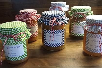 Weihnachtsmarmelade mit Bratapfel und Likör 43 1
