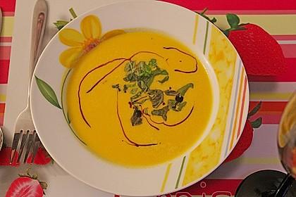 Kürbis-Möhren Suppe (Bild)
