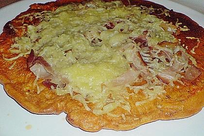 Pizza - Pfannkuchen mit Ajvar 9
