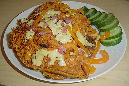Pizza - Pfannkuchen mit Ajvar 4
