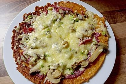 Pizza - Pfannkuchen mit Ajvar 2