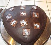 Schokoladen - Herzkuchen (Bild)