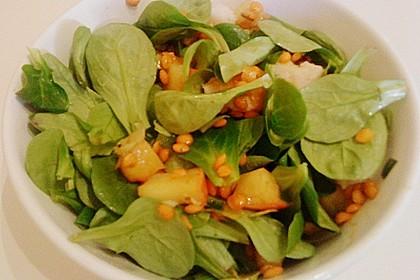 Feldsalat mit roten Linsen 2