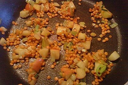 Feldsalat mit roten Linsen 1