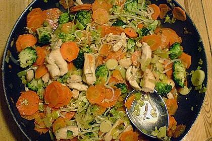 Jockels Vier - Gemüsepfanne mit Hähnchen