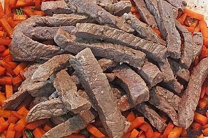 Mickys Frühlingspfanne mit Rindfleisch und Möhren 5