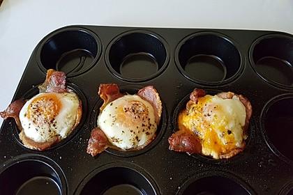 Frühstücksei im Schinkenmantel 6