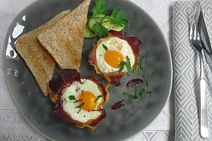 Frühstücksei im Schinkenmantel 4