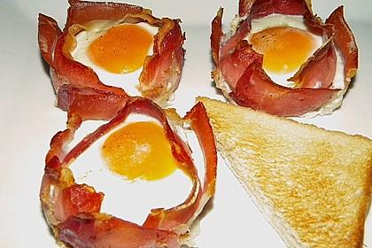 Frühstücksei im Schinkenmantel 23