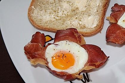 Frühstücksei im Schinkenmantel 7