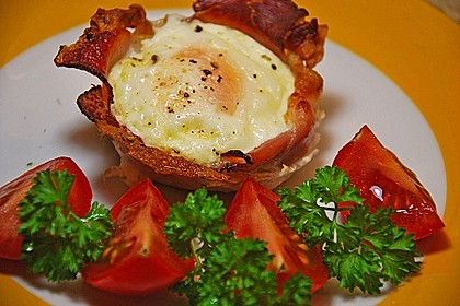 Frühstücksei im Schinkenmantel 2